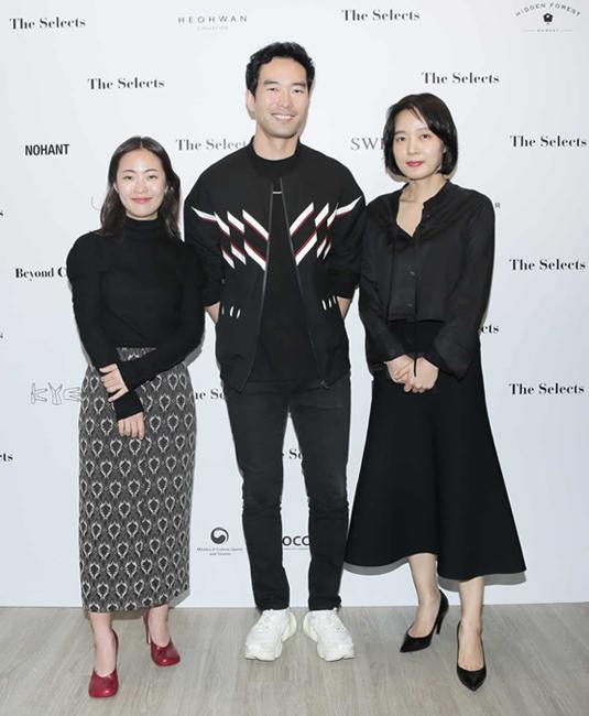 사진은 왼쪽부터 신혜영 디자이너, 이청청 디자이너, 이승희 디자이너