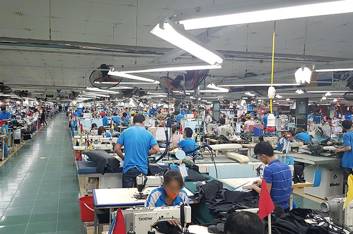 베트남 하노이 현지 봉제공장