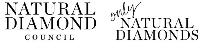 왼쪽부터 내추럴 다이아몬드 협의회 로고, 온리 내추럴 다이아몬드 로고
