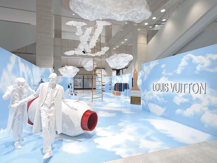 루이 비통 2020 가을-겨울 남성 컬렉션 쇼 테마에서 영감을 받은 신세계백화점 강남점 팝업 전경