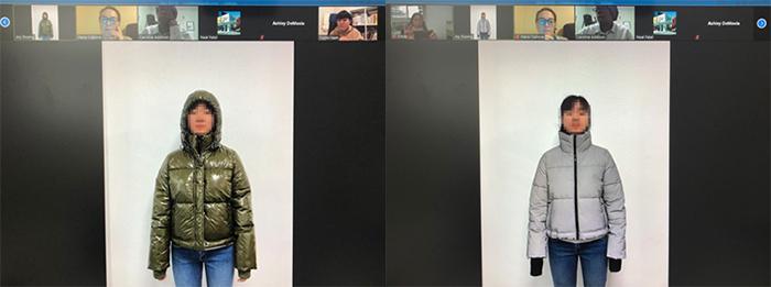 화상회의를 통한 '비주얼 피팅' 진행 모습