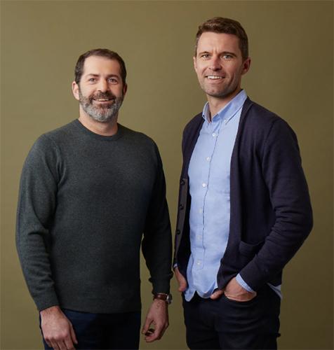 왼쪽부터 조이 즈윌링거, 팀 브라운 올버즈 공동 창업자_출처: 올버즈 홈페이지