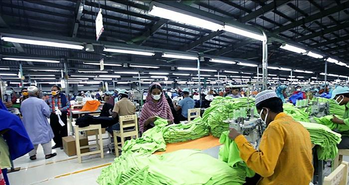 신한인터내셔널 방글라데시 현지 공장 모습
